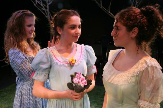 From left: Rebecca Stevens, Talia Weingarten, and Amelia Estrada in Zeitgeist Stage Company's ''Spring Awakening.''