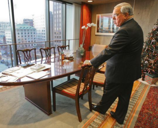 Mayor Thomas Menino, in his office at Boston City Hall, is expected to officially launch his bid for reelection today. Menino has held the post since 1993 and is on track to be the longest-serving mayor in city history.