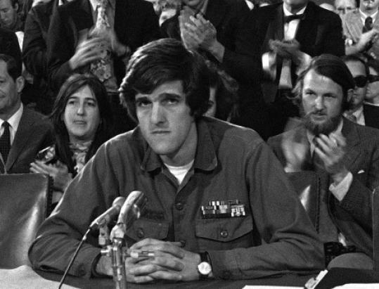 John Kerry testified before the Senate Foreign Relations Committee in 1971.