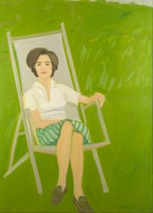 Alex Katz's 1963 portrait of his wife, ''Ada Seated,'' captures the ease of postwar American Art.