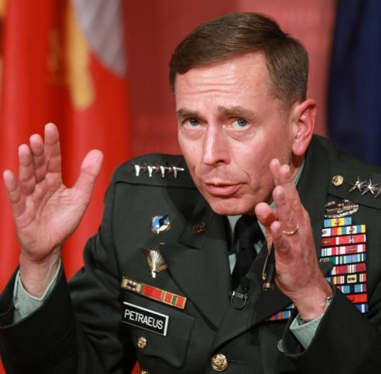 General David Petraeus expressed his concerns during a forum Tuesday night at Harvard University's John F. Kennedy School of Government.