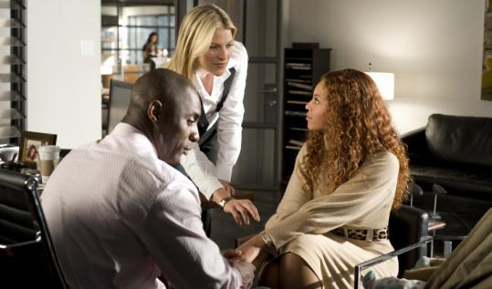 From left: Idris Elba, Ali Larter, and Beyoncé Knowles in ''Obsessed.''