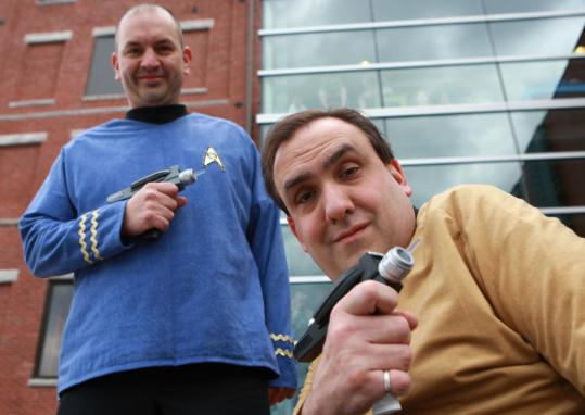 Paul Fest (right) and Chris DeAngelo look forward to seeing the new ''Star Trek'' film.