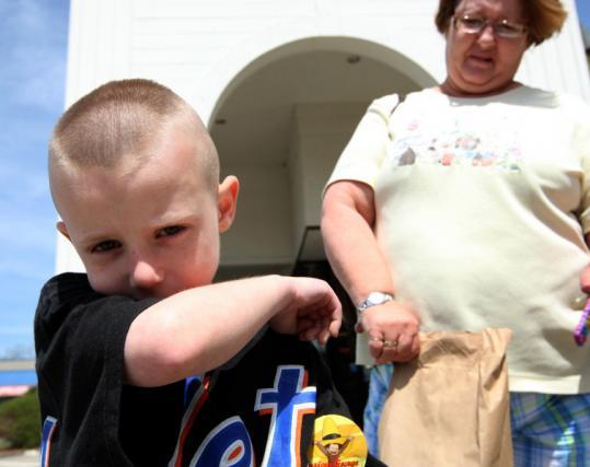 Lynda Halbrook hustled grandson Joshua, 5, to the doctor after he got a cough. The boy attends Headstart in Spencer.
