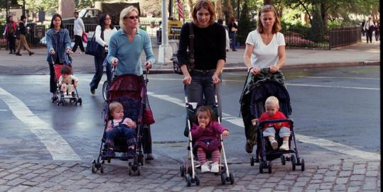 New York women get the children out for fresh air, but are the ''Bad Mother Police'' watching?