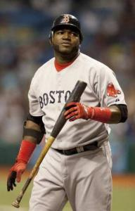 David Ortiz walks away after striking out to end the game.