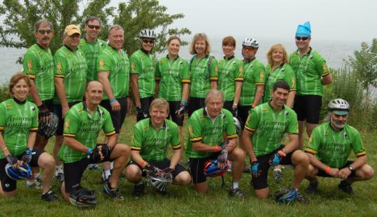 Team Gourmet Garden after the 2008 Cape Cod Getaway. The team has grown to more than 30 riders from the area.