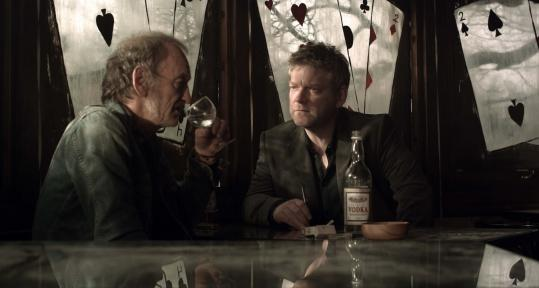 Kenneth Branagh (right) and John McEnery in a scene from PBS's ''Wallander.''