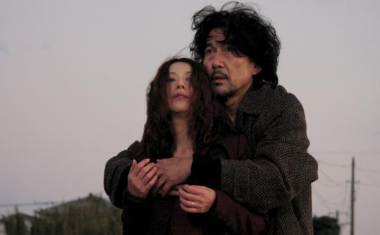 Kyoko Koizumi and Koji Yakusho in ''Tokyo Sonata.''