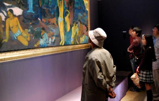 The Gauguin painting has generated record crowds at the Nagoya museum.