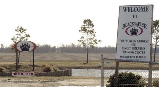 Signs welcomed visitors to the Moyock, N.C.-based Blackwater USA headquarters in 2004. The company's name is now Xe.