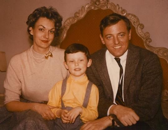 Young Christopher Buckley with his glamorous parents, Patricia and William, circa 1956.