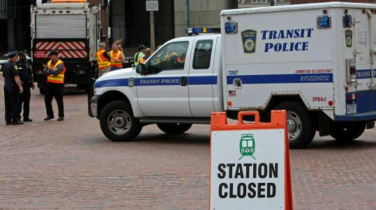 The Green Line was still closed last night at Government Center station. National and local investigators were conducting a series of tests for their report on Friday's trolley crash, which injured dozens of passengers and derailed both trains.