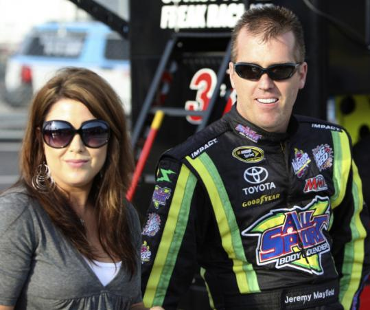 Jeremy Mayfield, who drives a car he owns, was suspended indefinitely for using an undisclosed banned substance.