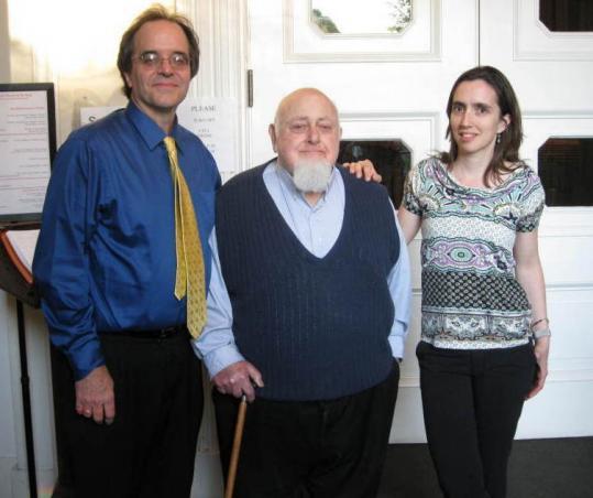 Boston Microtonal Society members (from left) James Bergin, Joseph Maneri, and Julia Werntz.