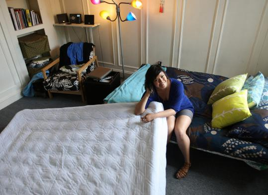 Kaia Balcos, who is graduating from Boston University, will put up family members at her studio apartment.