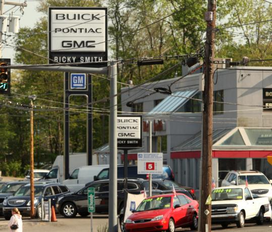 Ricky Smith Buick Pontiac GMC in Weymouth is among the 1,110 dealers nationwide that received letters from General Motors about ending their franchise agreement as of October 2010. Massachusetts has 96 GM dealerships.