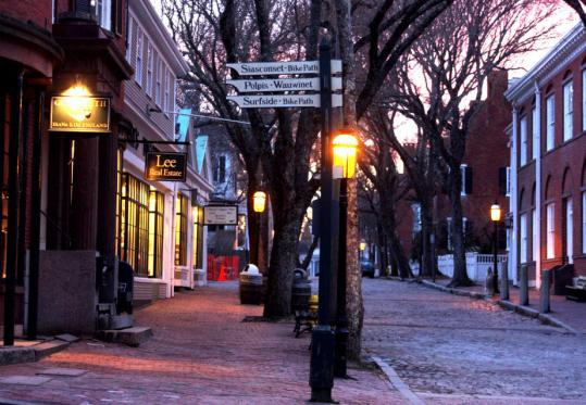 Nantucket's business thoroughfare is Main Street. Islanders wonder how the island will fare this summer season, given the economy.