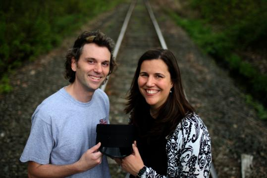 Scott Miller and Lauren Richey met on the commuter rail and will be married on the commuter rail.