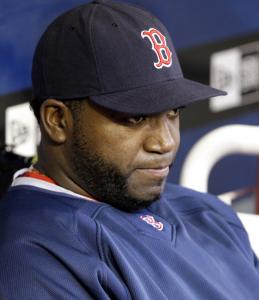 David Ortiz was on the bench last night after going 0 for 7 and stranding 12 runners in Thursday's loss to the Angels.