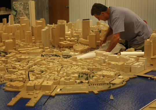 Kevin Hurley is one of two model builders who earned a combined $52,300 in overtime at the Boston Redevelopment Authority last year.