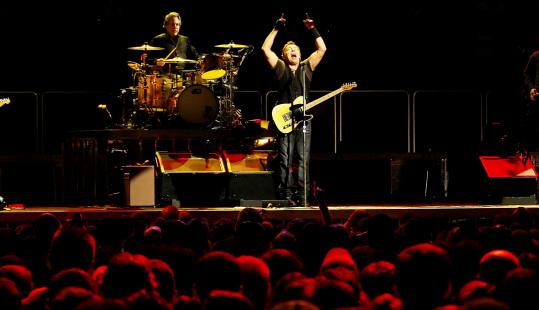 Bruce Springsteen sang to a full house in Boston in April.