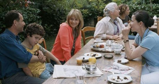 From left: Charles Berling, Max Ricat, Juliette Binoche, Isabelle Sadoyan, Alice de Lencquesaing, and Dominque Reymond in a scene from ''Summer Hours.''