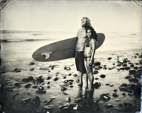 ''Matty + Ingrid'' is one of the tintype photographs by Joni Sternbach on display at the Peabody Essex Museum.