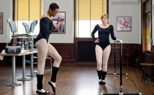 Damon Wayans Jr. (as Thomas) and Shoshana Bush (Megan) in ''Dance Flick.''