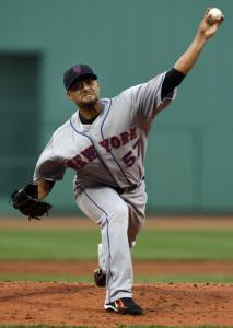 Johan Santana allowed just one hit after hitting Kevin Youkilis with a pitch.