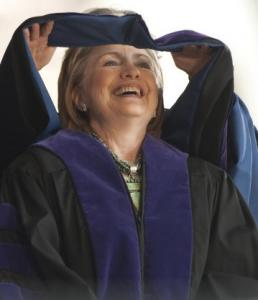 Secretary of State Hillary Rodham Clinton received an honorary Doctor of Laws degree at the Yale University commencement in New Haven yesterday.