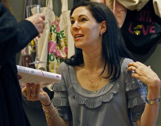 ''The Ex-Mrs. Hedgefund'' author Jill Kargman at last night's book party at Juicy Couture.