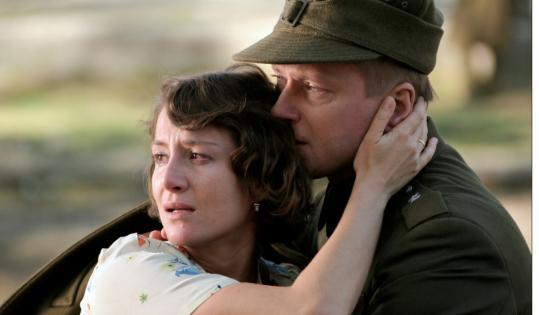Maja Ostaszewska and Artur Zmijewski star in Andrzej Wajda's ''Katyn.''