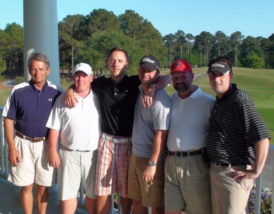 It took a little longer than they expected, but (from left) Rob Kolodjay, Jim Stefanik, Jeff Kolodjay, Dave Carlos, Rick Delisle, and Jorge Morgado finally made it to Myrtle Beach.