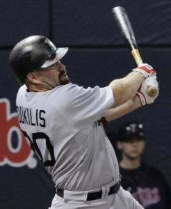 Kevin Youkilis's sacrifice fly got the Sox on the board.