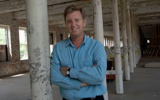 Joseph C. Thompson, the only director Mass MoCA has had, hopes to renovate more buildings and to create an outdoor space for a music festival.