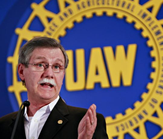 Ron Gettelfinger, president of the United Auto Workers, spoke yesterday about the concessions.