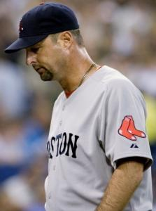 Tim Wakefield failed to get out of the fifth inning, when Toronto scored five times.