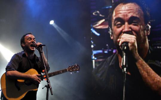 Dave Matthews performed to a sold-out crowd at Fenway Park last night.