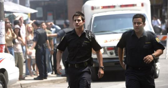 Craig Olejnik (left, with Ennis Esmer) stars in ''The Listener.''