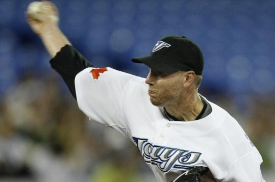 Blue Jays' Roy Halladay pitched the seventh 10-strikeout game of his career.