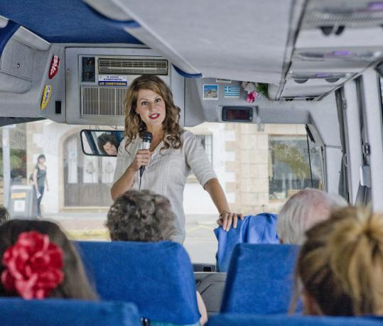 Nia Vardalos stars as an unemployed professor who leads fact-laden tours of Greece.