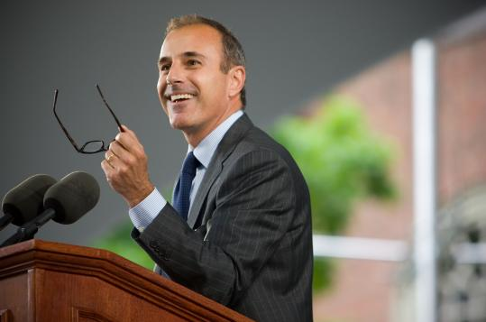 Matt Lauer at Harvard