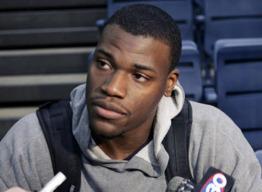 UConn's Jeff Adrien may be considered undersized at power forward, but an impressive wingspan should work in his favor.