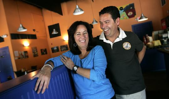 Ramona Robinson and Luis Valdez, co-owners of Loco Coco's Tacos in Kittery, Maine.