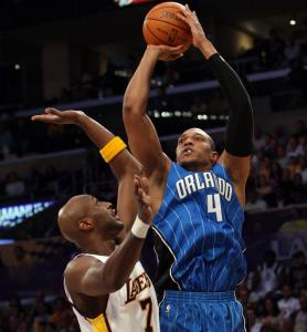 Former Celtic Tony Battie relishes his role on the Orlando Magic as a backup to Dwight Howard and Rashard Lewis.