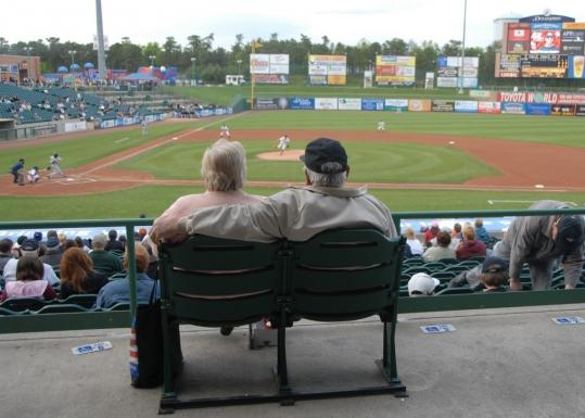 Children and seniors ate for free at a minor league baseball game in Lakewood, N.J., last month, as part of a season-long promotion to get families to come out to the ballgame.