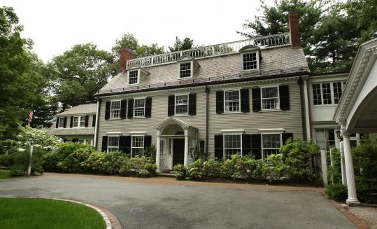 Governor Deval Patrick's 6,800-square foot , 3 1/2-bathroom Colonial on Hinckley Road in Milton has nine fireplaces.