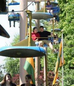 The Sky Ride at Canobie Lake Park is one of the more relaxing, old-time rides for visitors to enjoy.