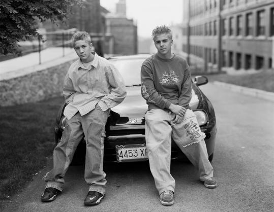 An image from Richard Renaldi's book ''Fall River Boys,'' which contains 89 black-and-white photographs taken over the past decade during Renaldi's visits to the city.